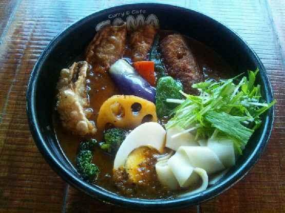 来店「寒い冬に!スタミナ餃子カリー」 1300円です!